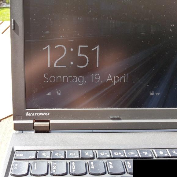 Arbeiten am ThinkPad