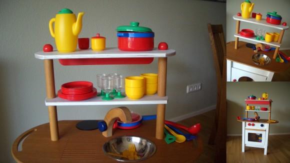kleine Kinderküche aus Holz