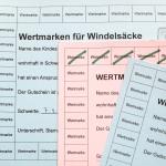 Wertmarken für Windelsäcke der Stadt Schwerte