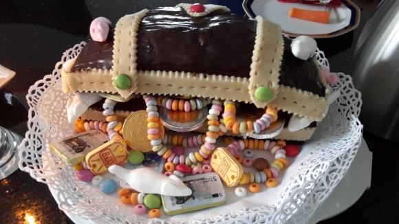 Kuchen Schatztruhe