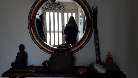 Spiegel Selfie rund