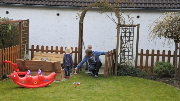 Garten aufräumen