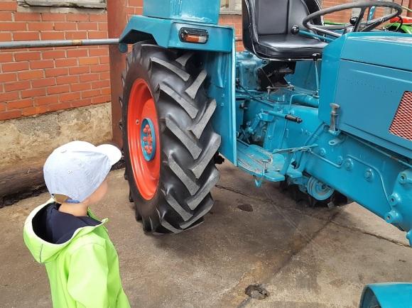 Sonnenschein und Traktor